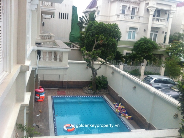 Quality-Furnished House with out-door pool for Rent Ciputra Hanoi