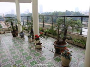 Apartment rental with huge terrace over looking to Thu Le lake