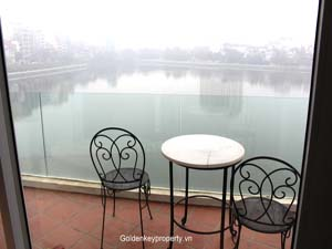 Apartment view to Truc Bach lake, located in Ba Dinh District
