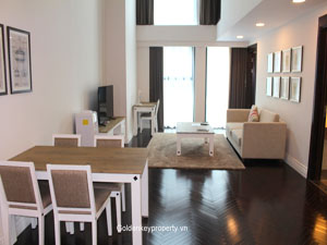 Duplex apartment for rent in Hoang Thanh building Hanoi