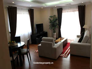 Furnished apartment 2 bedrooms for rent view to Truc Bach lake