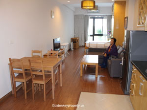 Lake view apartment 1 bed for rent in Dong Da Dist, Hanoi