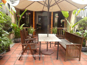 Old style 3 bed house for rent in Hoan Kiem, Hang Khay Str, Hanoi