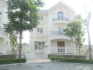 Vinhomes Riverside Hanoi, spacious and luxurious villa for rent