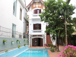 To Ngoc Van Villa rental large outdoor pool and garden