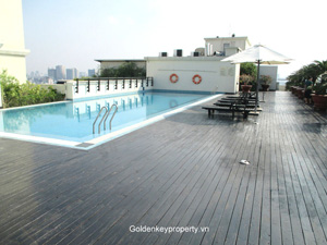 Pacific Place Hanoi apartment for rent 2 bedroom swimming pool