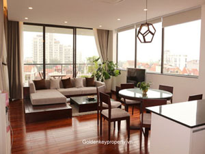 Brand new 3 beds lake view apartment for rent in Tay Ho Hanoi