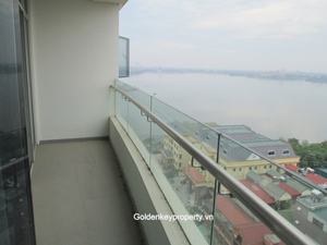 Lake view apartment for rent in WaterMark, Tay Ho Hanoi