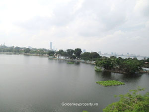 Lake view 2 bedrooms apartment for rent in Truc Bach, Hanoi