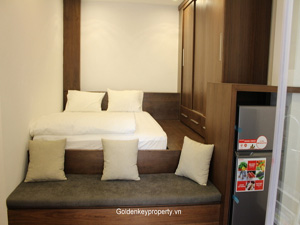 Rental cozy studio apartment in Ba Dinh district Hanoi