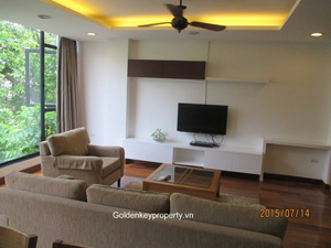 Rental furnished apartment 2 bedrooms in Truc Bach Hanoi