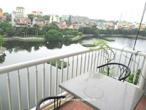 Truc Bach lake view, 3 bedroom apartment for rent with furnished