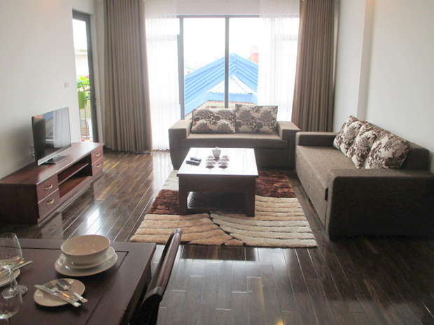 Rental 2 bedrooms apartment in Hoang Quoc Viet Hanoi