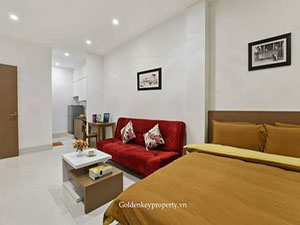 Furnished apartment 1 bedroom for lease on Tran Duy Hung street