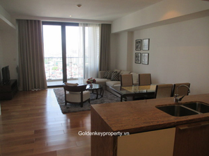 Indochina Hanoi, 2 bedrooms high floor apartment for rent