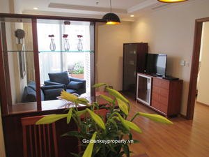 2 beds apartment with garden for rent in Vinhome Nguyen Chi Thanh