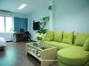 Furnished apartment 1 bedroom to lease in Dong Da district