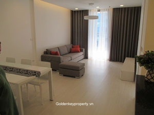 Modern furnishing 2 bedrooms apartment in Vinhome Hanoi