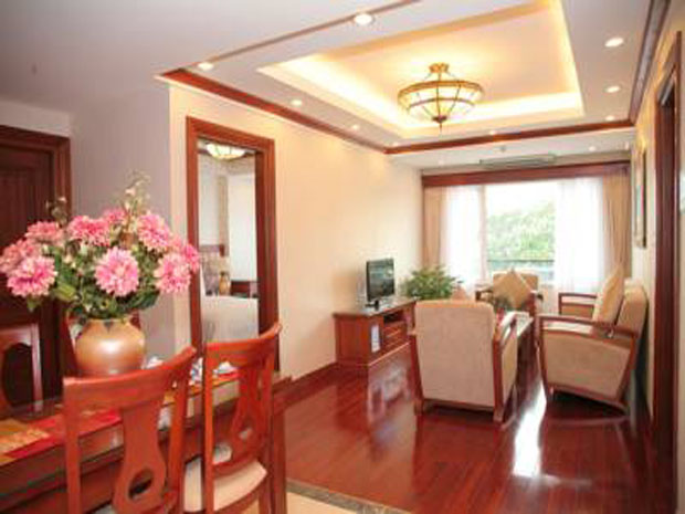 Thien Thai service apartment for rent in Hanoi with beautifully decorated