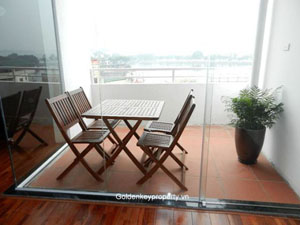 Lake view, 3 bedroom with furnished, Penthouse in Truc Bach