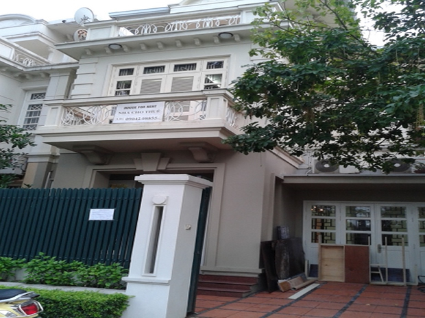 Ciputra Hanoi house for rent, Furnished nearby UNIT school