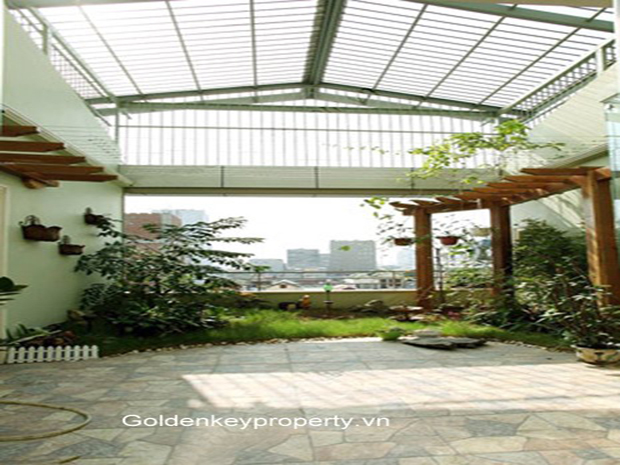 Rental house in Ba Dinh, Hanoi with 4 bedroom, quiet and bright