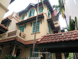 Townhouse in Ba Dinh Hanoi for rent, 4 furnished bedrooms