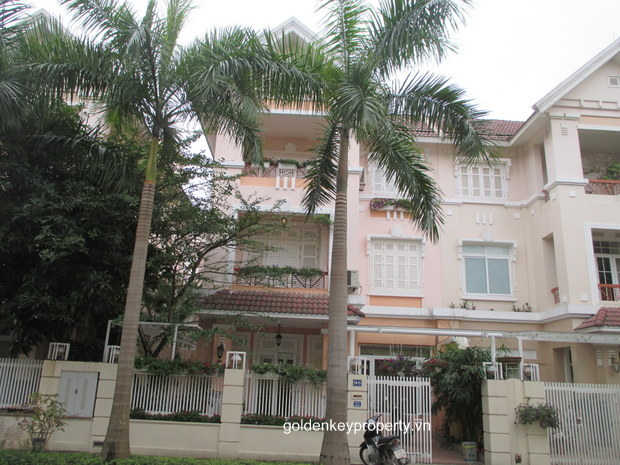House in Ciputra Hanoi for lease, T block, 4 bedroom, nice furnished