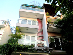 Nghi Tam house, modern style Westlake view for rent