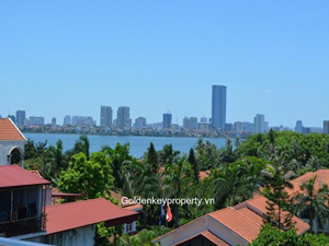 Rental house in Dang Thai Mai Tay Ho, 4 bedroom, nice terrace view