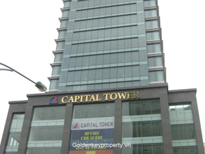 Capital Tower office for lease on Tran Hung Dao Hoan Kiem, Hanoi