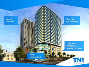 Tower TNR office for lease on Nguyen Chi Thanh street, Hanoi