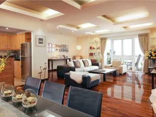 Service apartment for rent in Elegant Suites Hanoi, 194m2 three bedrooms
